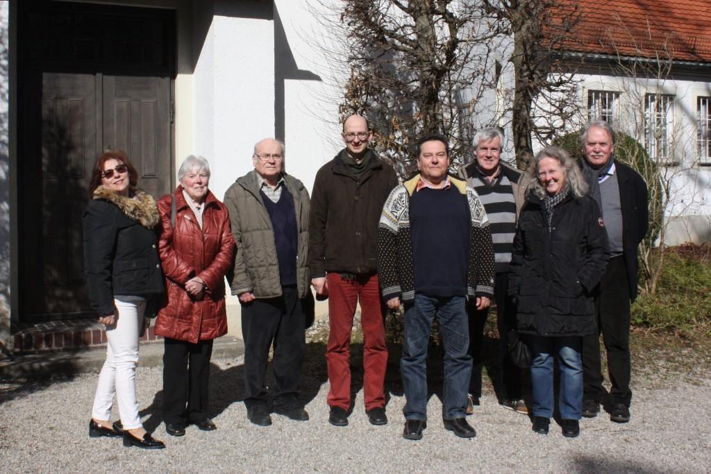 Glockenfahrt am 11. März 2017 mit Glockensachverständigen Matthias Roth (Mitte) und Architekt Professor Rüdiger Möller (rechts)