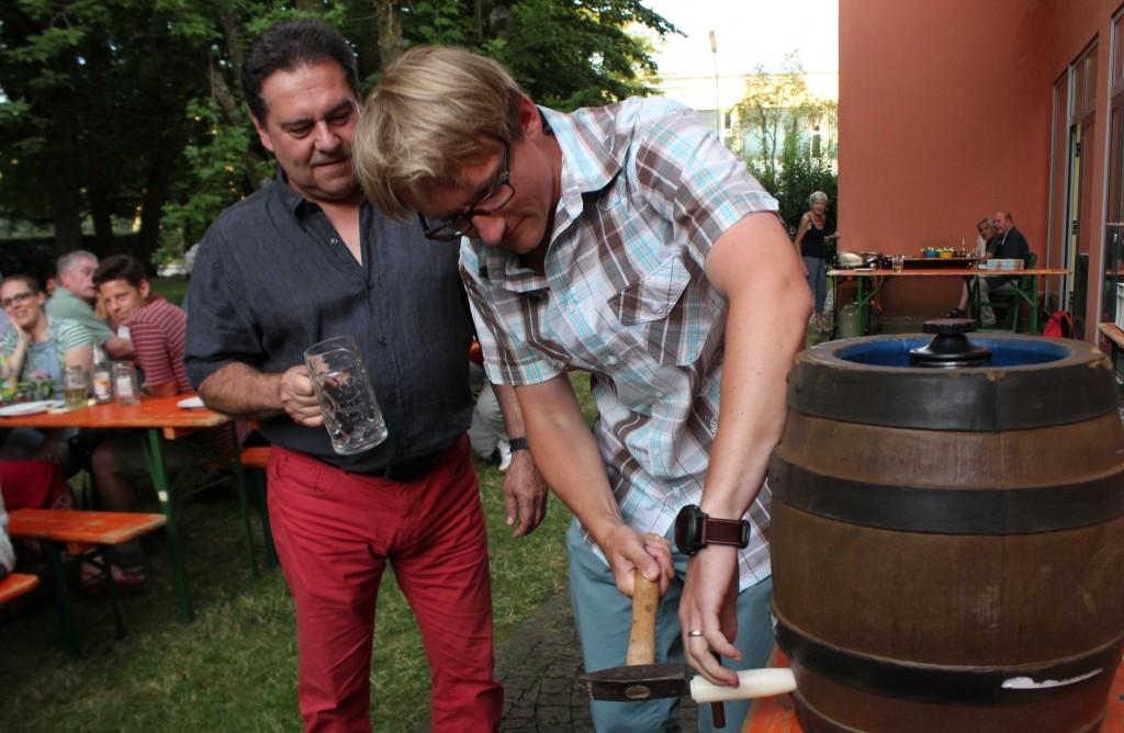 Grillabend für Daheimgebliebene (4.8.2016): Besuch des neuen Bürgermeisters