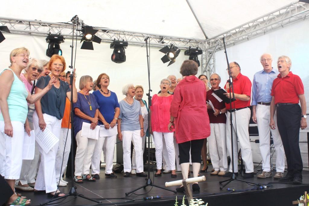 Unser Magdalenen-Chor beim Kulturfest im Juli 2016